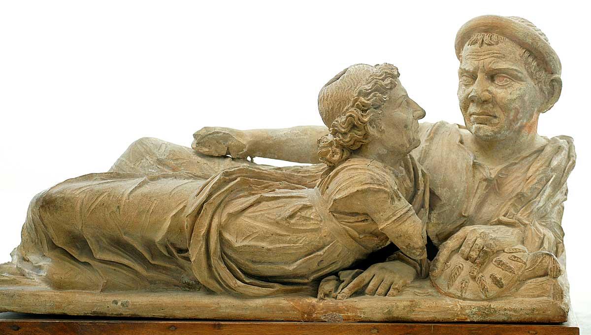 """Urna etrusca in alabastro detta """"degli sposi"""""""